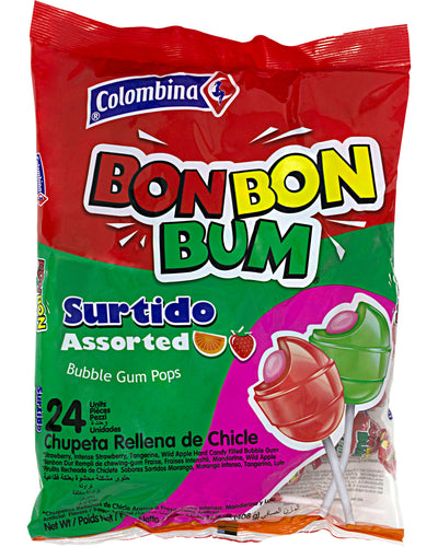 Bon Bon Bum Lollipops (Assorted Flavors) - 14.4 oz / 408 g