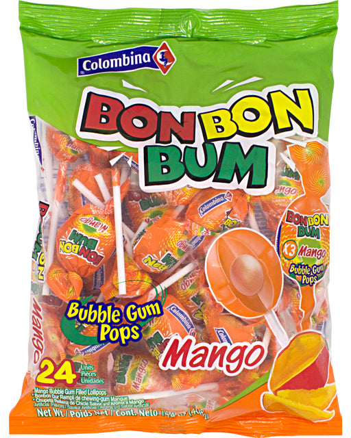 Bon Bon Bum Lollipops (Mango)