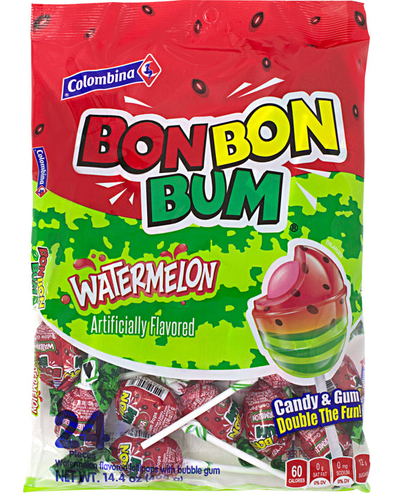 Bon Bon Bum Lollipops (Watermelon)