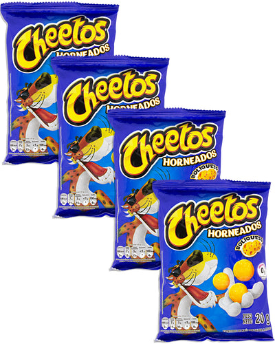 Cheetos Horneados Boliqueso (Cheese-Flavored Corn Puffs) (Pack of 4) - 2.8 oz / 80 g