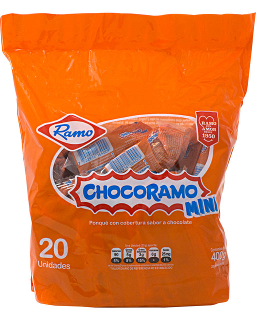 Chocoramo Mini Chocolate-covered Vanilla Cake (Pack of 20)