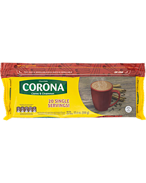 Corona Chocolate Tablet with Cloves and Cinnamon