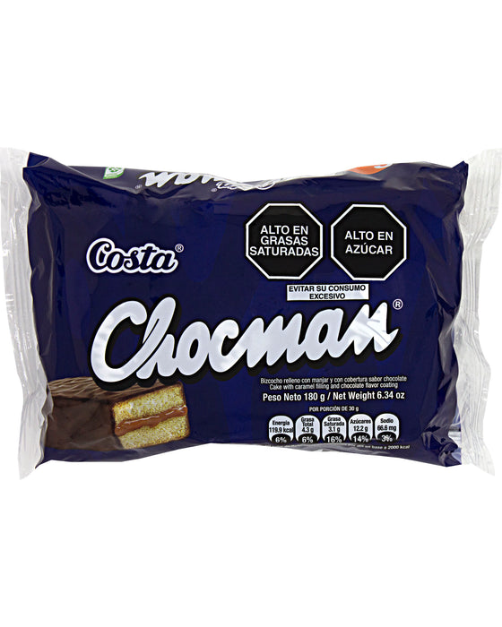 Costa Chocman (Cake Bars with Caramel Filling)