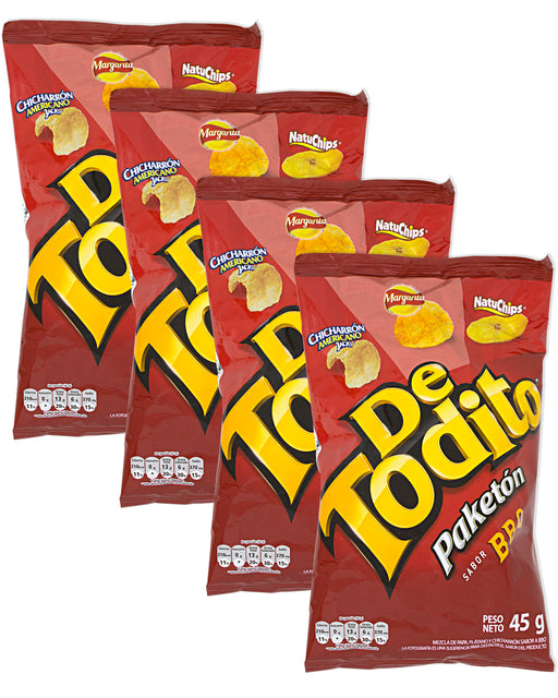 De Todito Paketon BBQ (Chip Mix) (Pack of 4)
