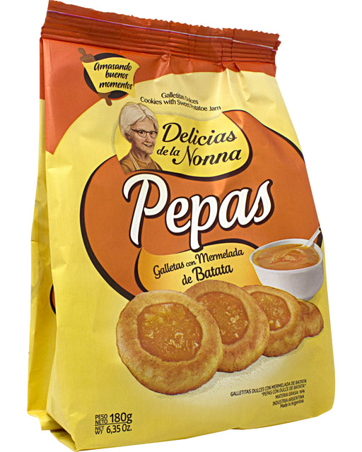 Delicias de la Nonna Pepas de Batata (Cookies with Sweet Potato Jam)