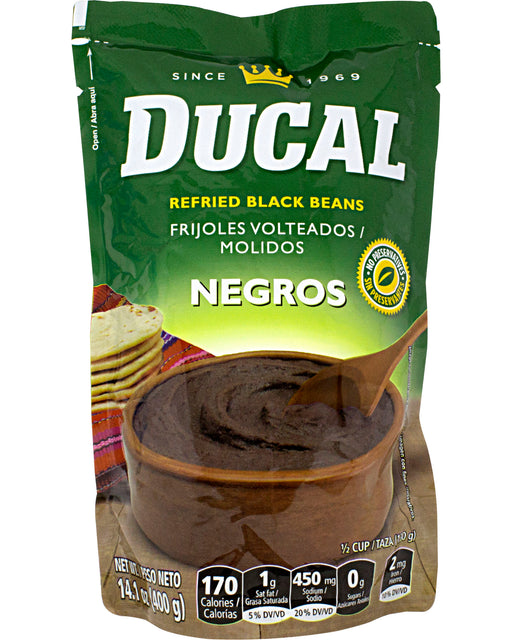 Ducal Frijoles Volteados (Refried Black Beans)