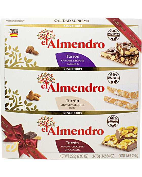 El Almendro Spanish Turron Candy Gift Pack of 3