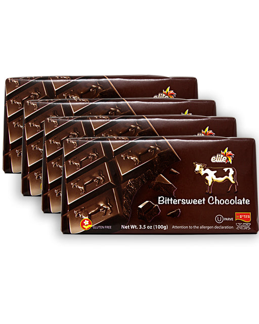 Elite Bittersweet Chocolate Bar - Pack of 4
