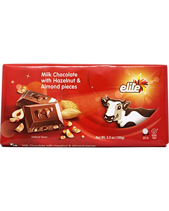 Elite Milk Chocolate with Almonds and Hazelnuts - Pack of 4 - Individual