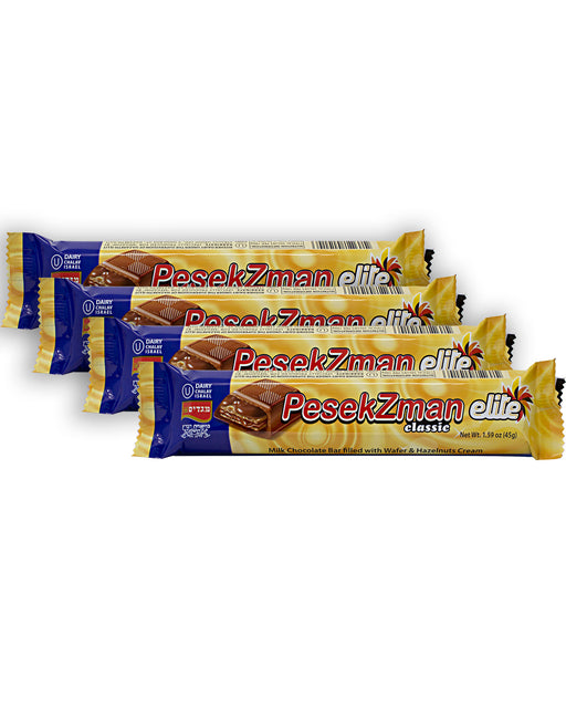 Elite Pesek Zman Hazelnut Chocolate Bar (Pack of 4)