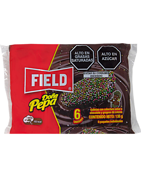 Field Doña Pepa Cookies with Chocolate and Sprinkles
