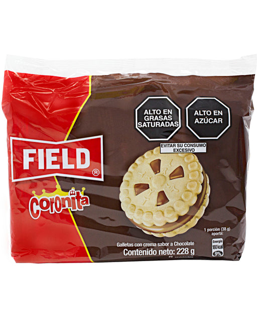 Field Galletas Coronita (Sandwich Cookies with Chocolate Cream)