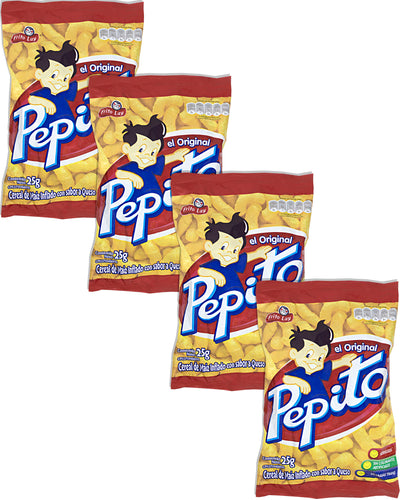 Frito Lay Pepito (Cheese-Flavored Corn Curls) (Pack of 4) - 3.5 oz / 100 g