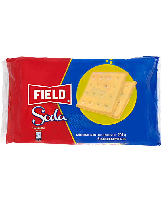 Galletas de Soda Field (Soda Crackers) (Pack of 6)