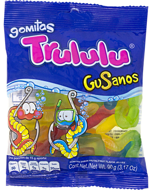 Trululu Gusanos (Fruit-Flavored Gummies)