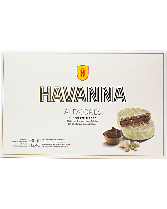 Havanna Alfajor (Milk Caramel Filling with White Chocolate Coating) - Front