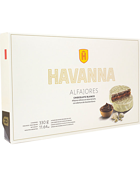 Havanna Alfajor (Milk Caramel Filling with White Chocolate Coating)