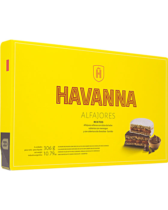Havanna Alfajores (Mixed Chocolate and Meringue Coating)