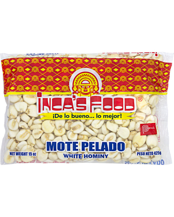 Inca's Food Mote Pelado (Dried White Hominy)