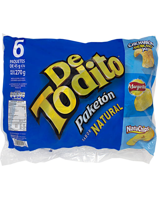 De Todito Paketon Natural (Snack Mix) (Pack of 6)