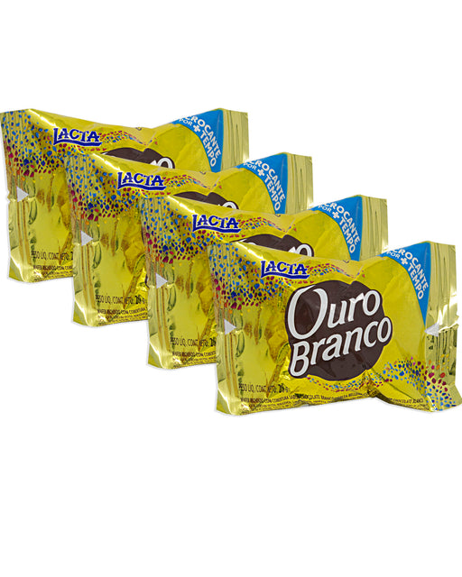 Lacta Ouro Branco Bonbons Covered in White Chocolate (Pack of 4)