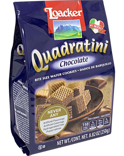Loacker Quadratini Chocolate Wafer Cookies
