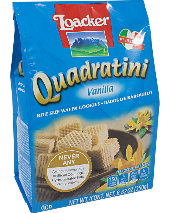 Loacker Quadratini Vanilla Wafer Cookies