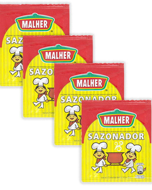 Malher Sazonador - Seasoning and Flavor Enhancer (Pack of 4)