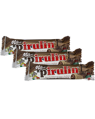 Pirulin Max (Chocolate-Coated Wafer Stick) (Pack of 3) - 3.1 oz / 90 g