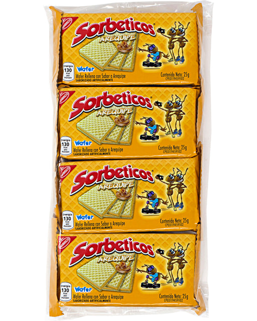 Nabisco Sorbeticos Arequipe (Milk Caramel Wafers) (Pack of 4)