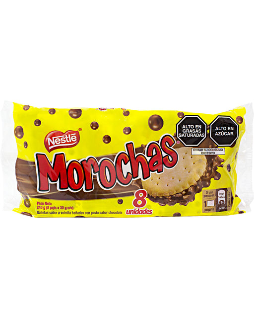 Nestle Morochas Cookies with Chocolate Coating (Pack of 8)