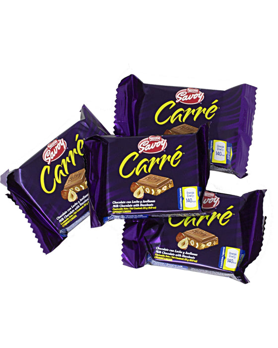 Nestle Savoy Carre de Avellanas Hazelnut Chocolate Bar 4 units mini chocolate