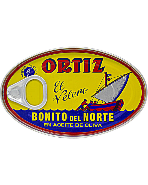 Ortiz White Tuna in Olive Oil Bonito del Norte Oval Tin