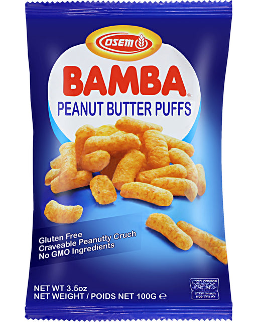 Osem Bamba Snack (Peanut Butter Corn Puffs, Large bag)