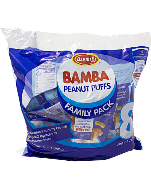 Osem Bamba Snack (Peanut Butter Corn Puffs) - Pack of 8