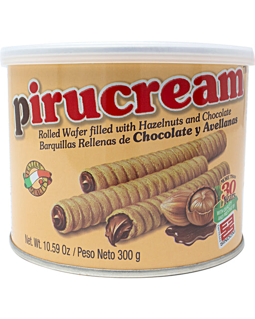 Pirucream (Pirulin Chocolate Wafer Sticks, Large Can)