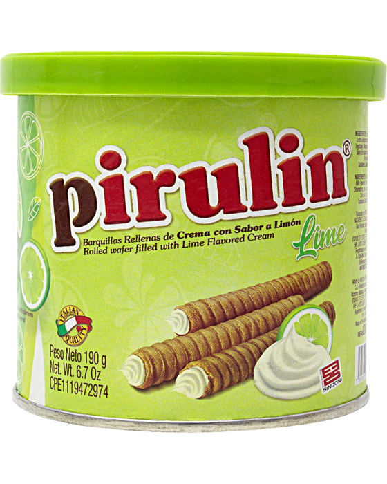 Pirulin Lime (Wafer Sticks Filled with Lime-Flavored Cream)