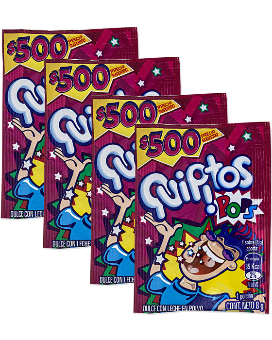 Quipitos Pops (Powdered Popping Candy) (Pack of 4)