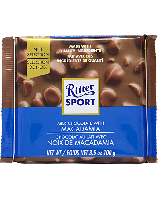 Ritter Sport Milk Chocolate with Macadamia