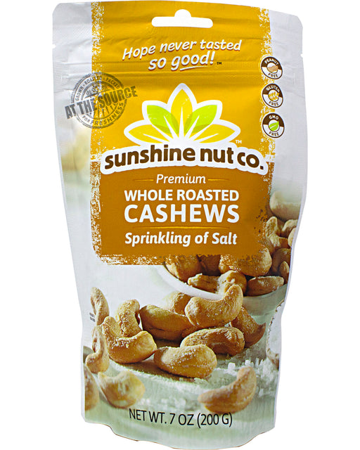 Sunshine Nut Company Whole Roasted Cashews