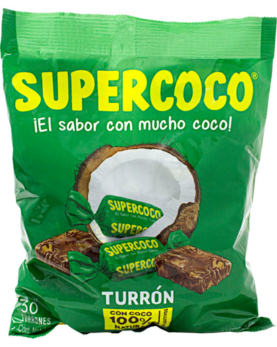 Supercoco Turron (Coconut Candy) (Pack of 50) - 9.7 oz / 275 g