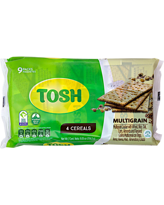 Tosh Crackers, Multigrain (Pack of 9)