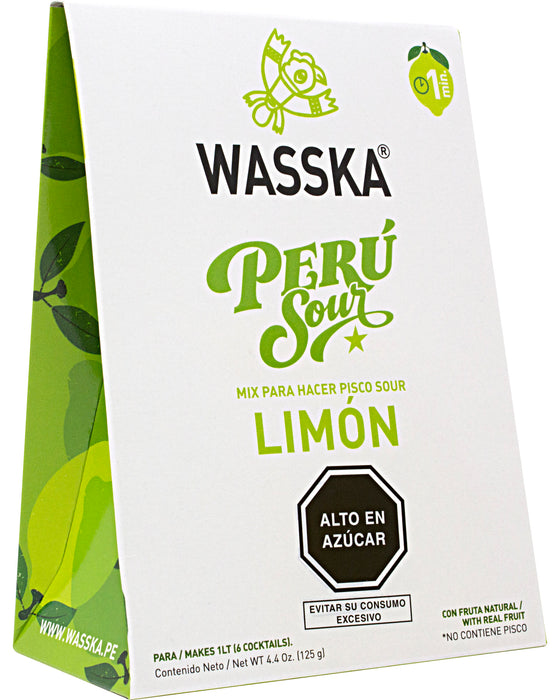 Wasska Peru Sour, Lemon Flavor (Cocktail Mix)
