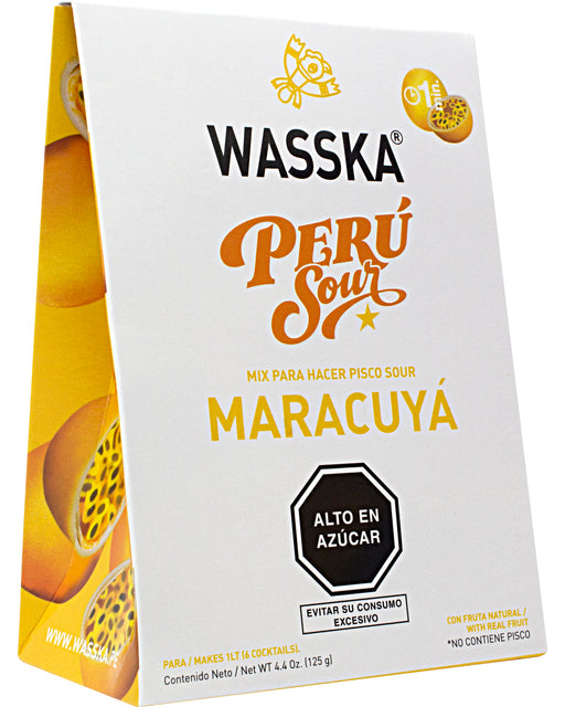 Wasska Peru Sour, Passion Fruit Flavor (Cocktail Mix)