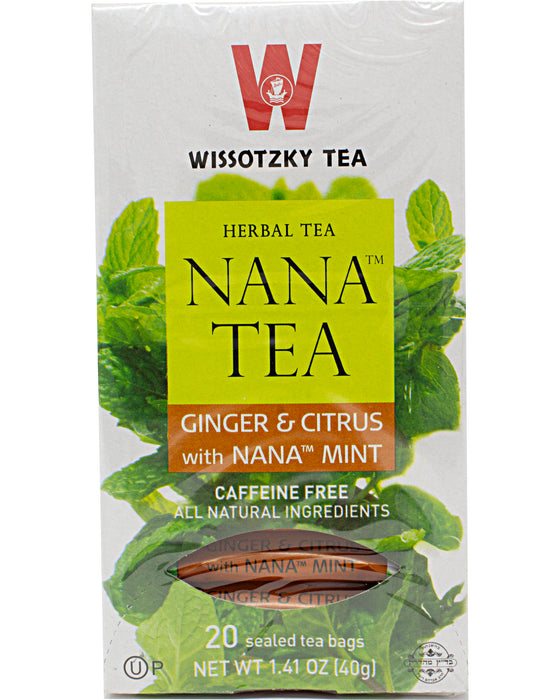 Wissotzky Nana Mint with Ginger and Citrus Herbal Tea