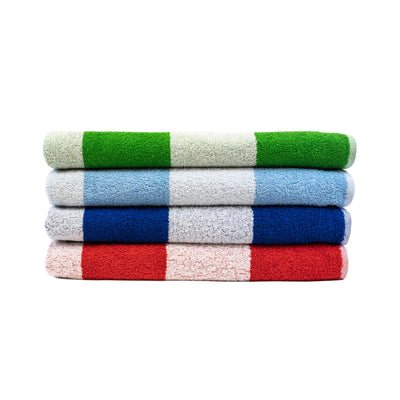 "100% Cotton, Cabana Style Summer Beach Towel, 4 Piece Pack, 29"" X 59"", Summer Colors"