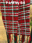 Xmas Red sparkle plaid with green and white