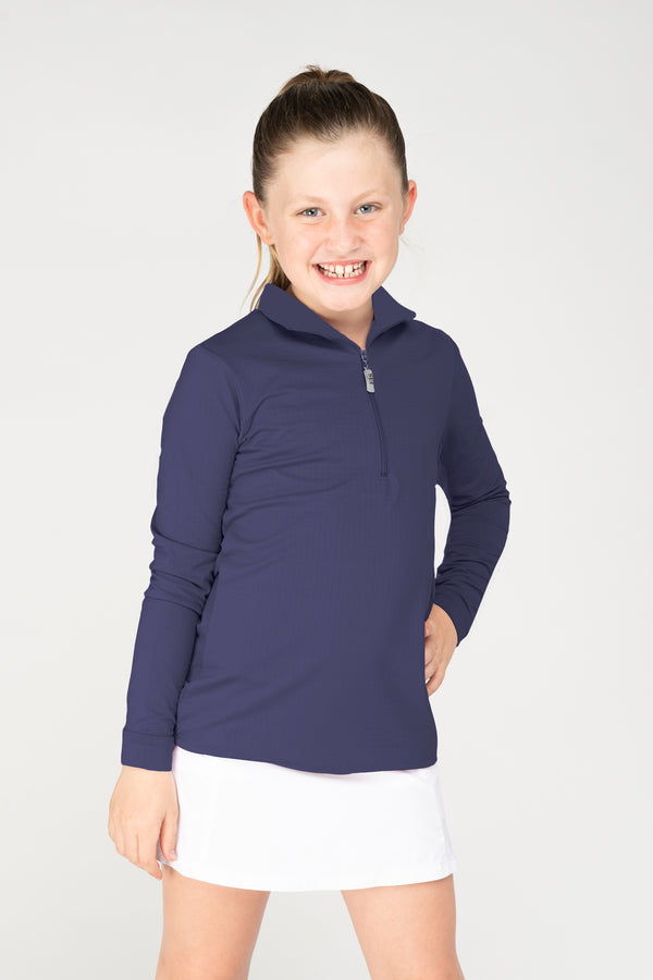 EIS Youth Solid Navy COOL Shirt ®