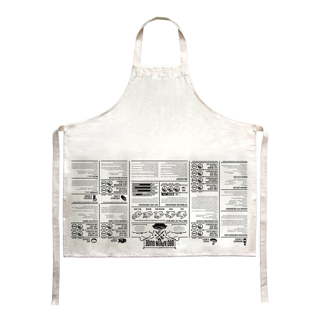 French Cooking Guides Apron BBQ - MUDAM STORE