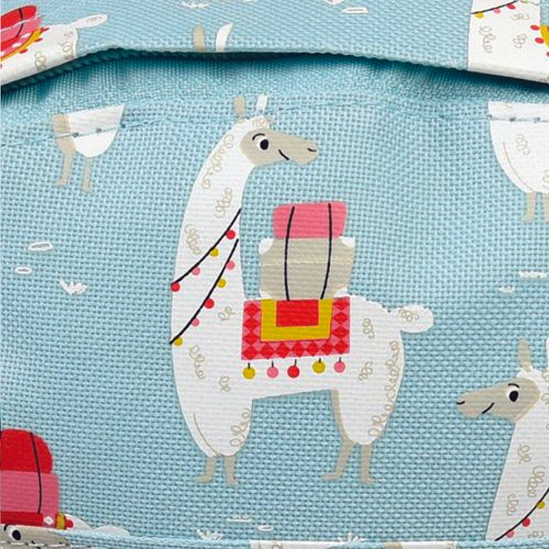 28 cm Dolly Lama Children's Backpack Blue - MUDAM STORE
